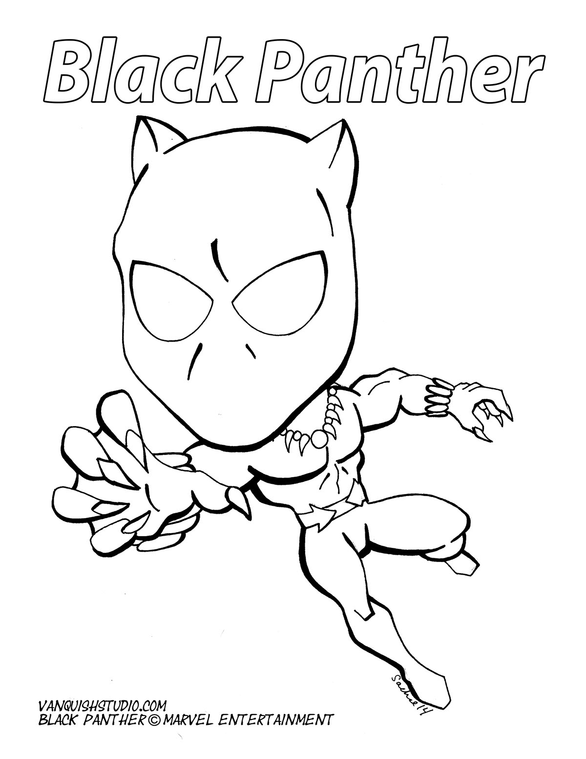 black panther coloring pages marvel black panther coloring pages eliolera - Black Panther Coloring Pages