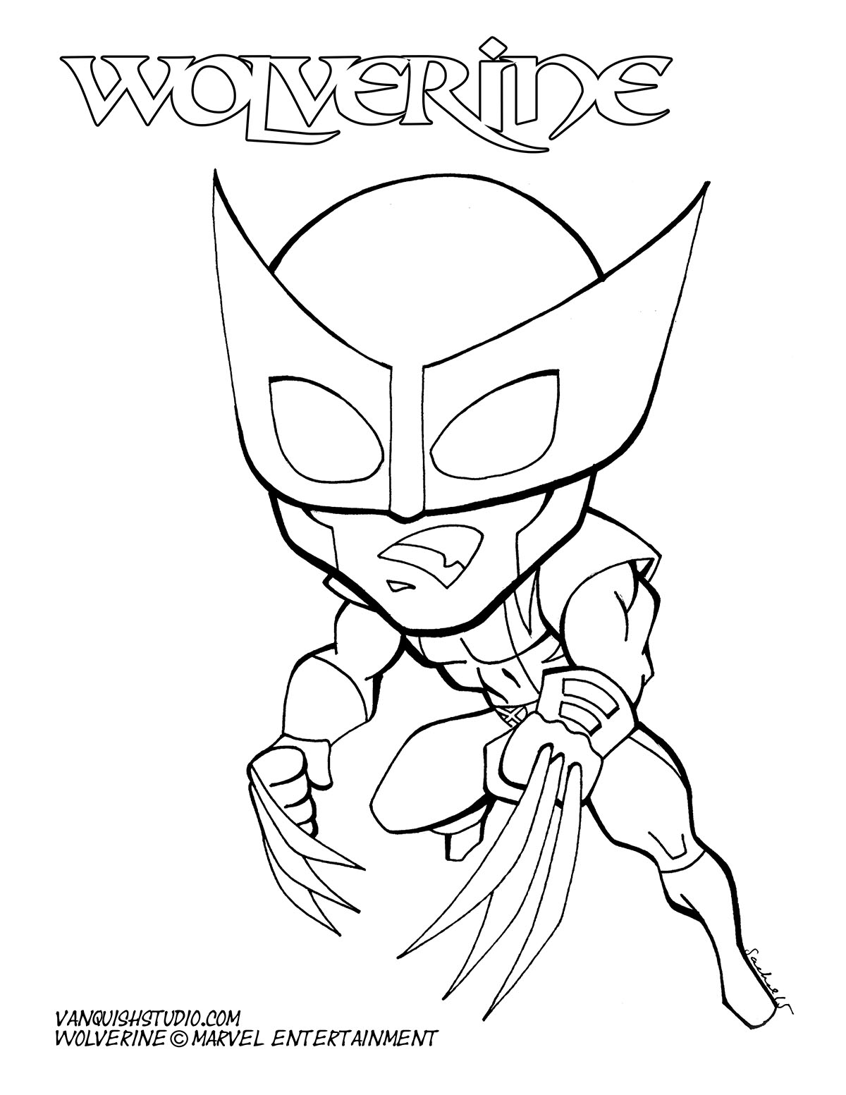 Coloring Pages Vanquish Studio