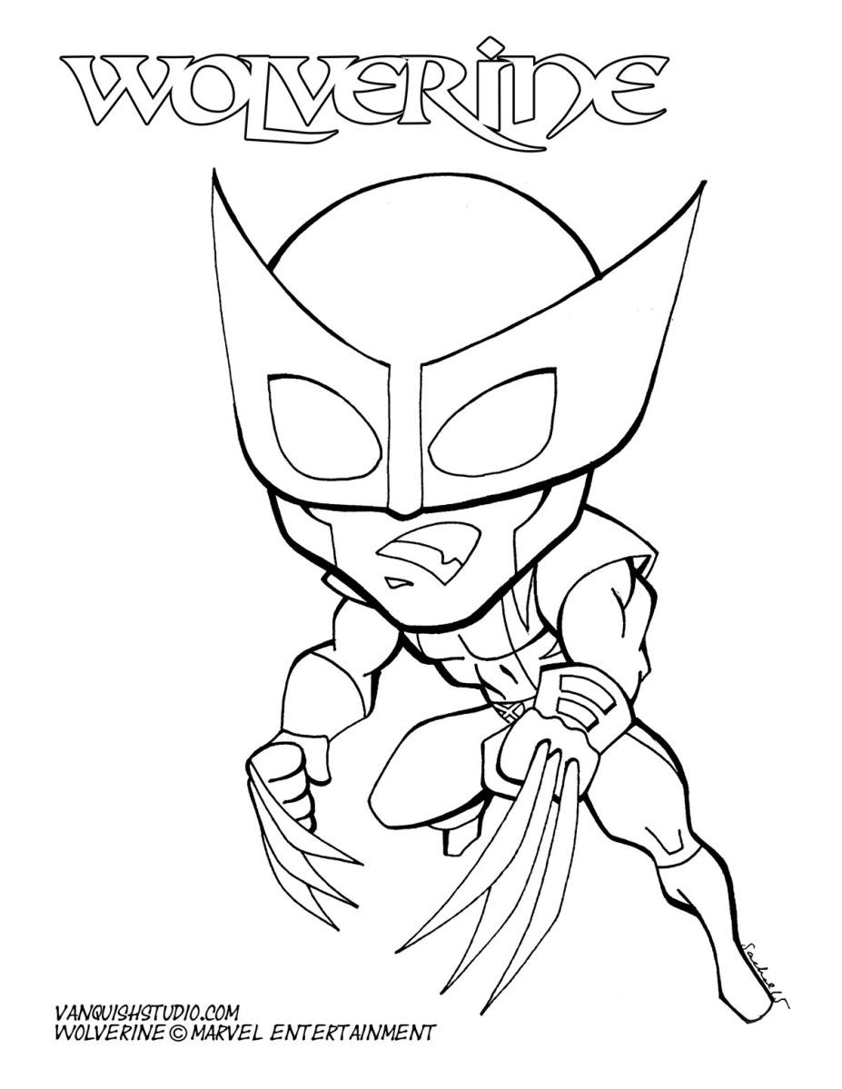 Wolverine Coloring page | Vanquish Studio