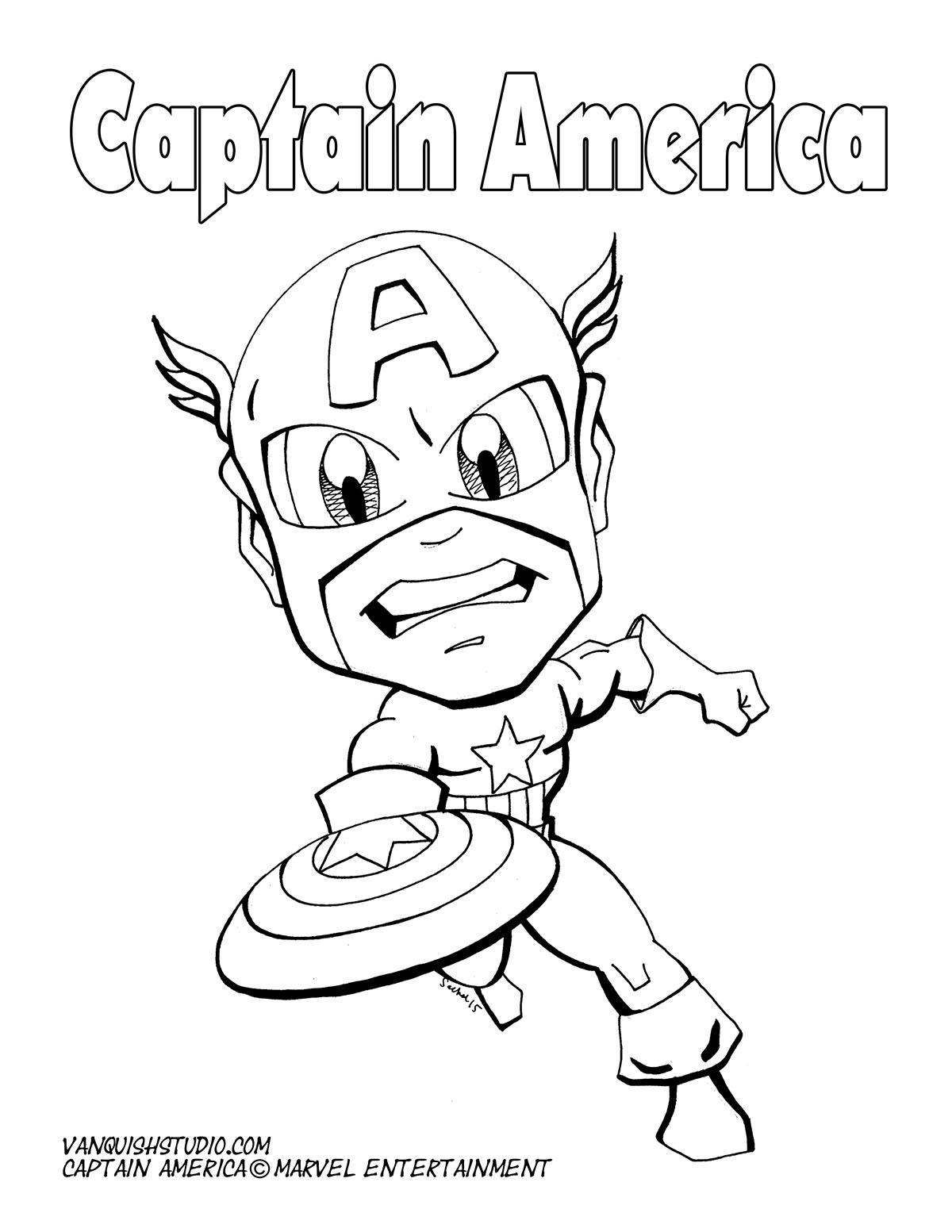 - Captain America Coloring Page Vanquish Studio
