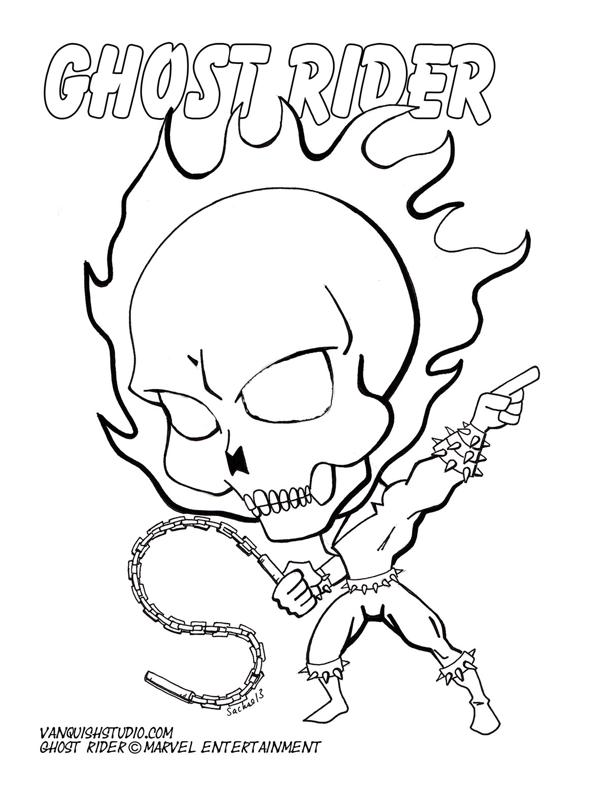 ghost rider free coloring pages - photo#35