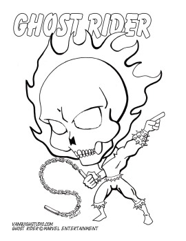 Ghost Rider Coloring page