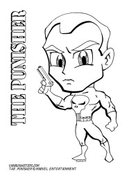 Punisher Coloring page