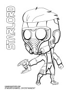 Starlord Coloring Page