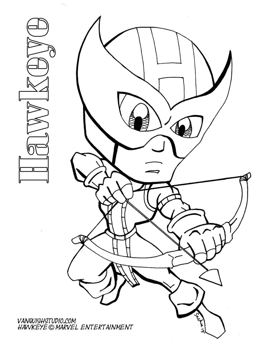 Hawkeye Coloring Page Vanquish Studio