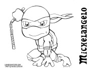 Michelangelo Coloring page
