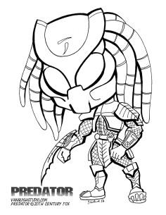 predator coloring page