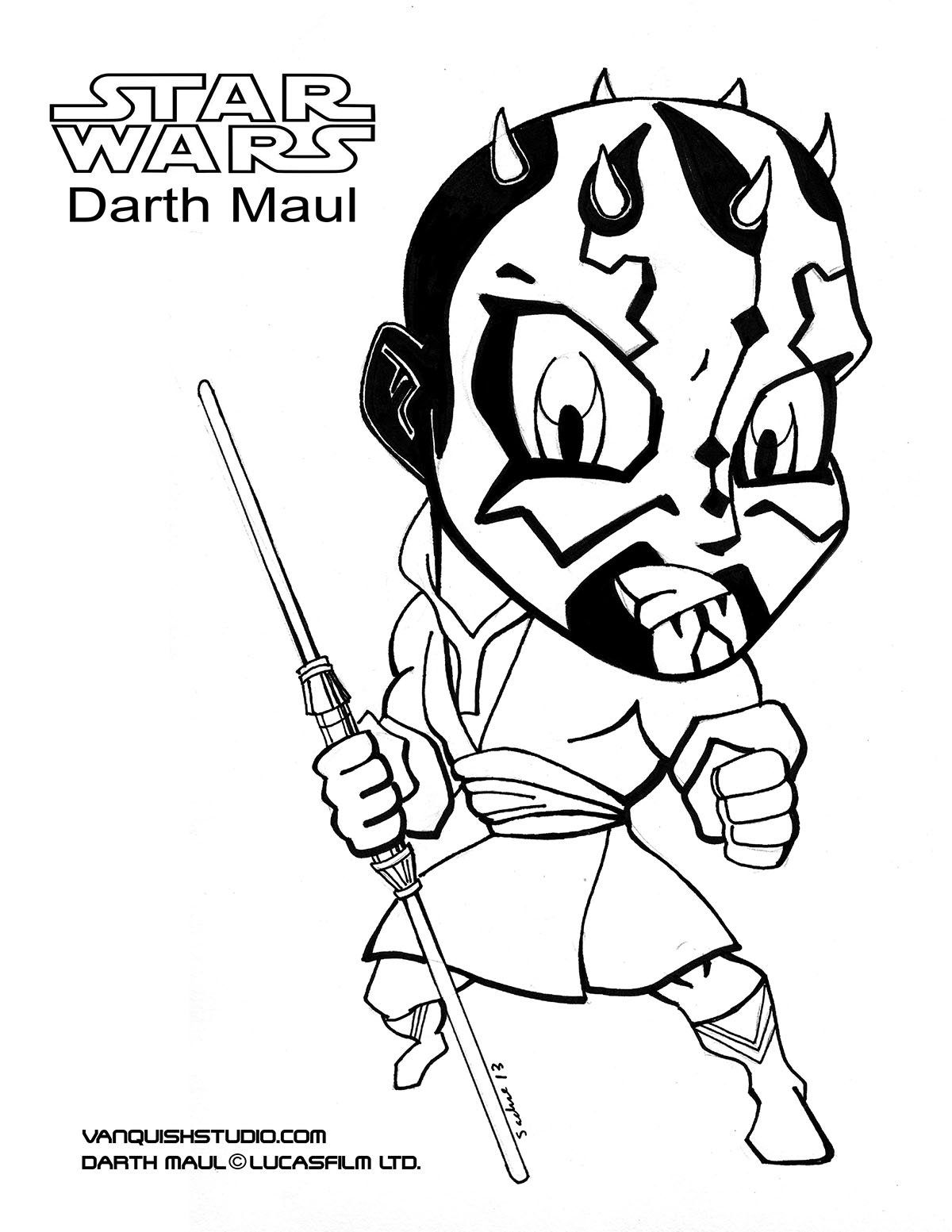 darth maul coloring pages - HD1200×1553