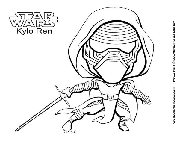 Kylo Ren Coloring page