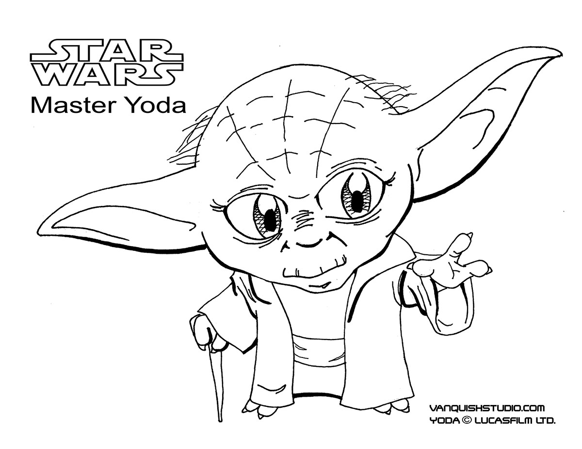 Best Free Star Wars Coloring Pages Vanquish Studiorhvanquishstudio: Coloring Pages Yoda At Baymontmadison.com