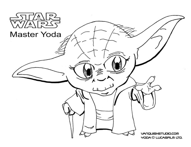 Yoda Coloring page