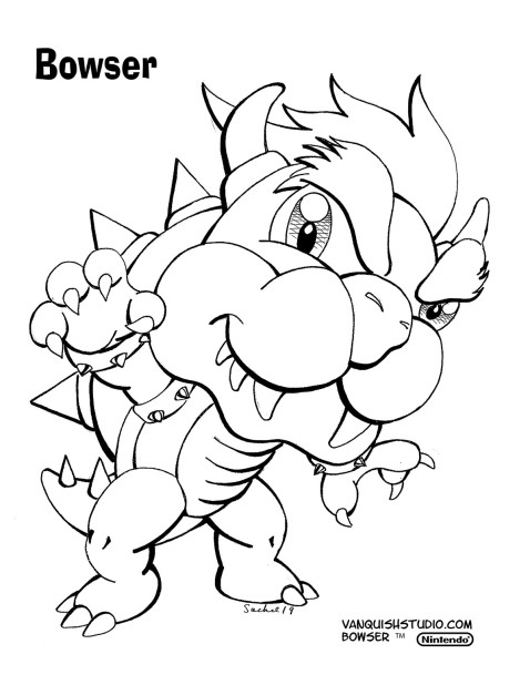 New Coloring Page Bowser Vanquish Studio