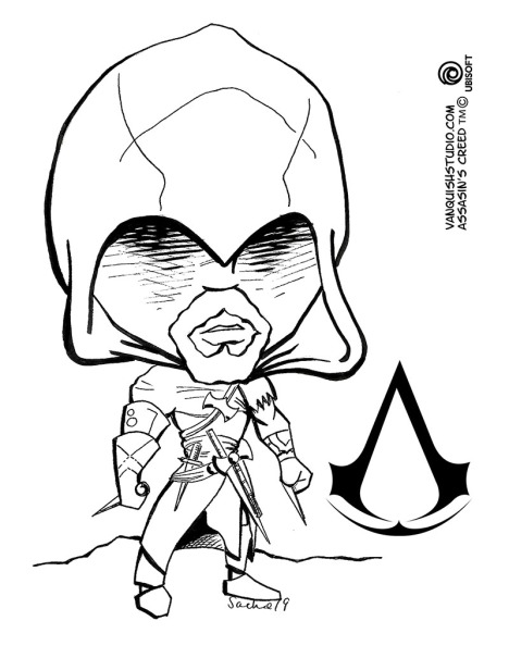 Assassin S Creed Coloring Page Vanquish Studio