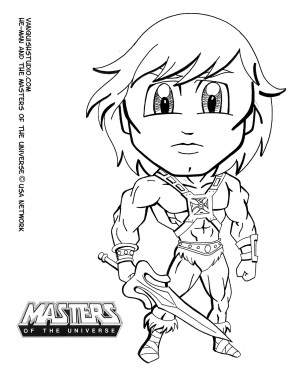 He-Man Coloring page
