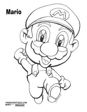 Mario Coloring page
