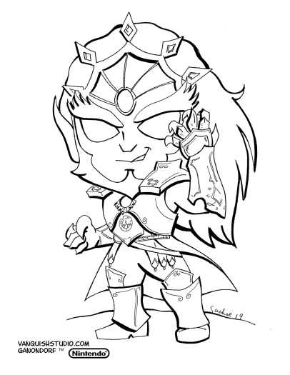 Ganon Coloring page