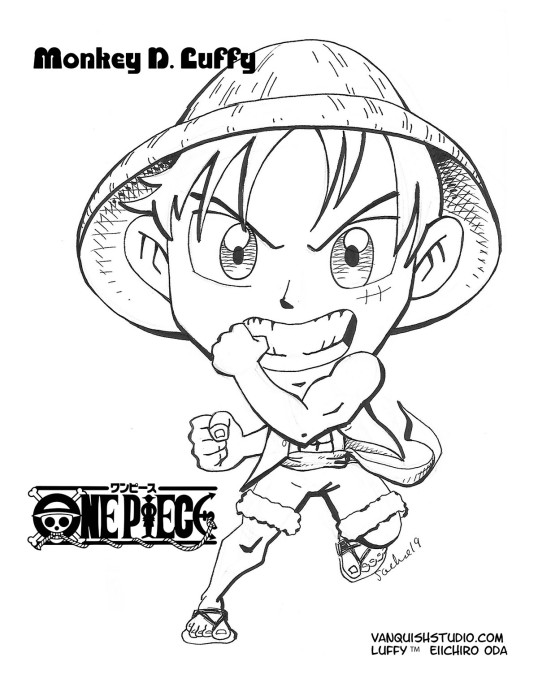 Luffy Coloring page