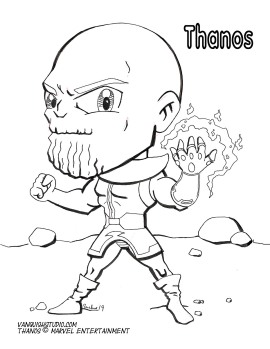 Thanos coloring page
