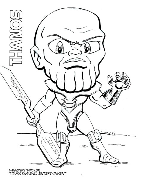 Thanos2 Coloring page