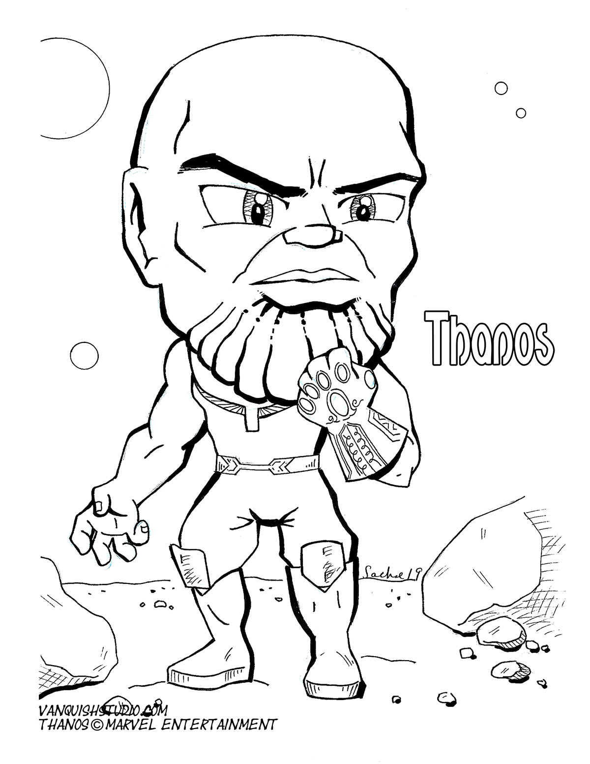 Thanos3 Coloring page