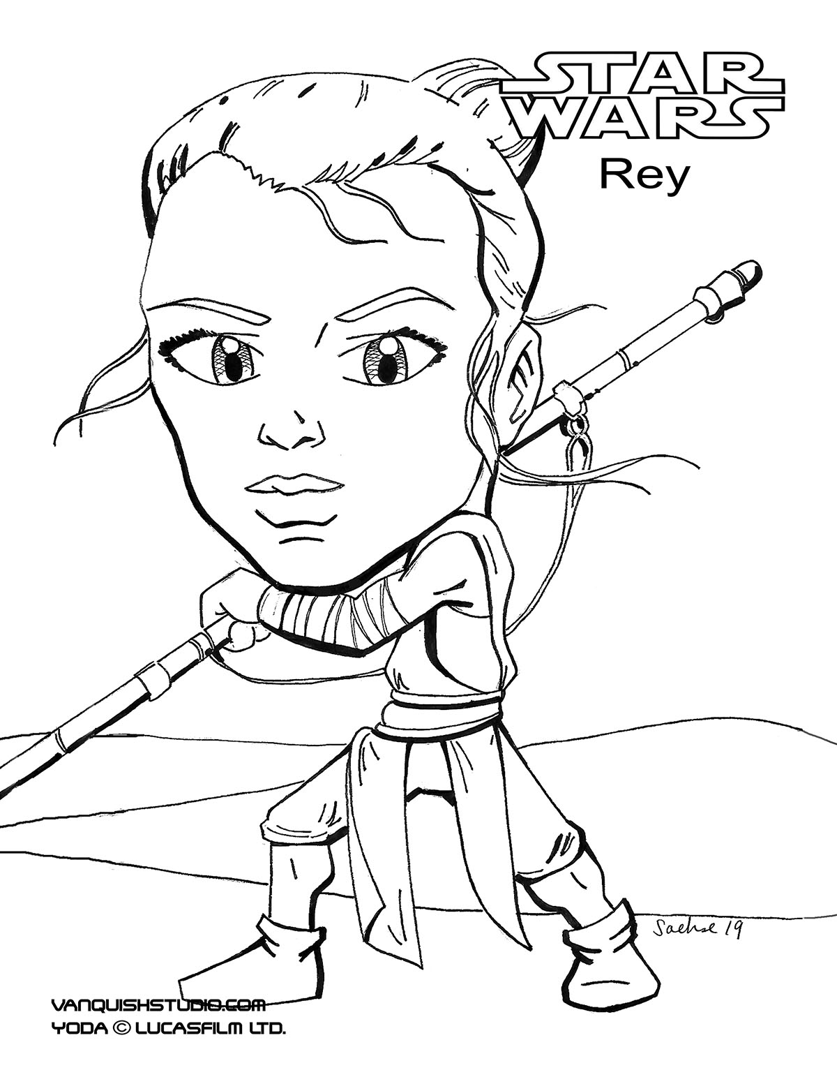 Rey-Coloring-page