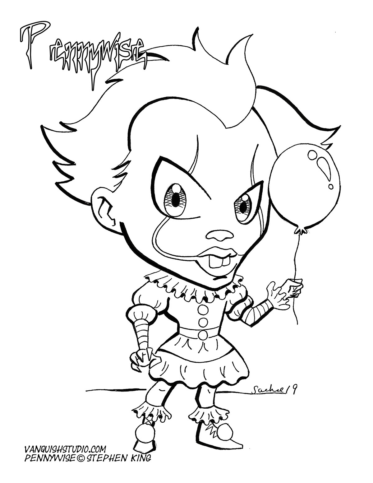 Pennywise Coloring page