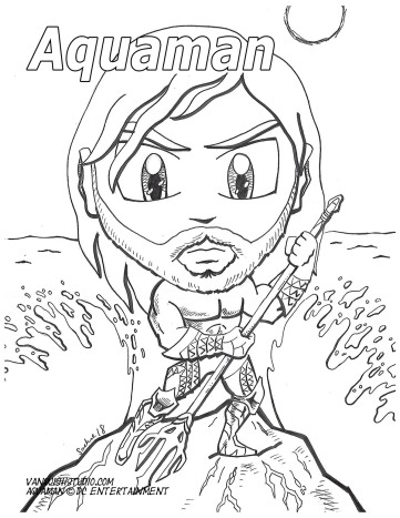 Aquaman Coloring page