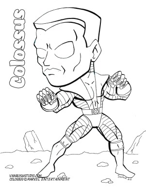Colossus Coloring page