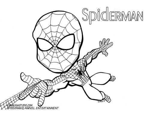 Spiderman2 Coloring page