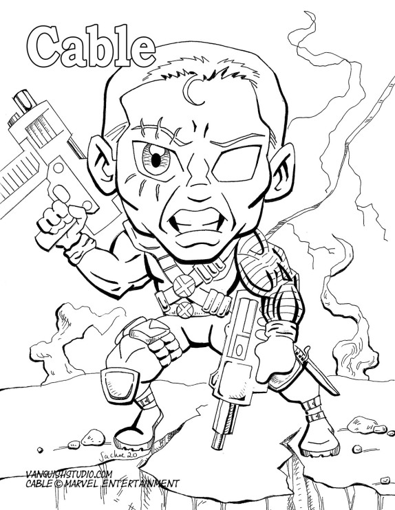 Cable Coloring page