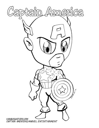 Captain America2 Coloring page