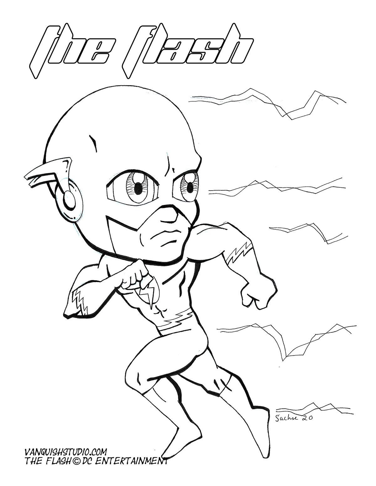 Flash2 Coloring page