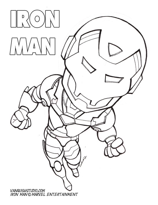 Marvel Superhero Iron Man 3 Tony Stark Coloring Page for Kids ... | 707x546