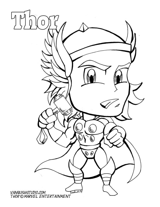 Superhero Printable Coloring Pages Thor Coloring Pages ... | 720x556