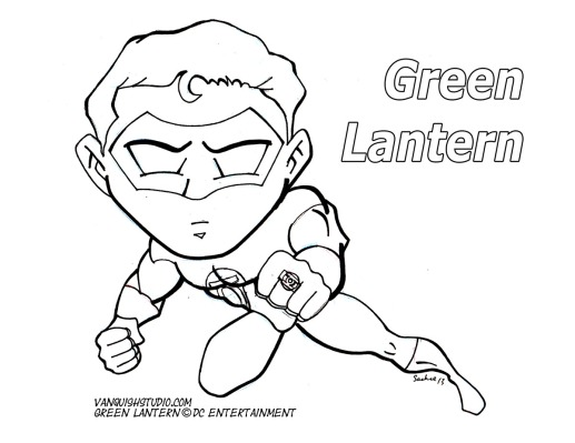Green Lantern2 Coloring page